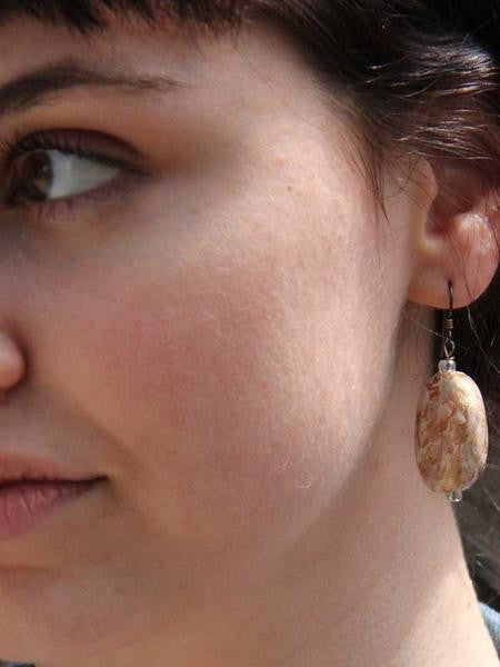 Andi Metallic Paper Bead Earrings