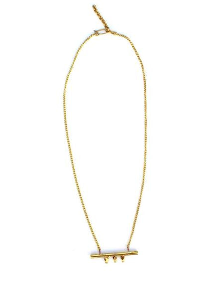 Kato Brass Bar Necklace