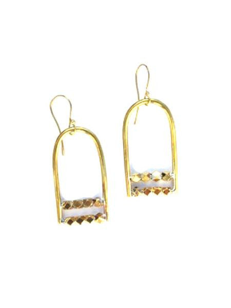 Brass Filbert Earrings