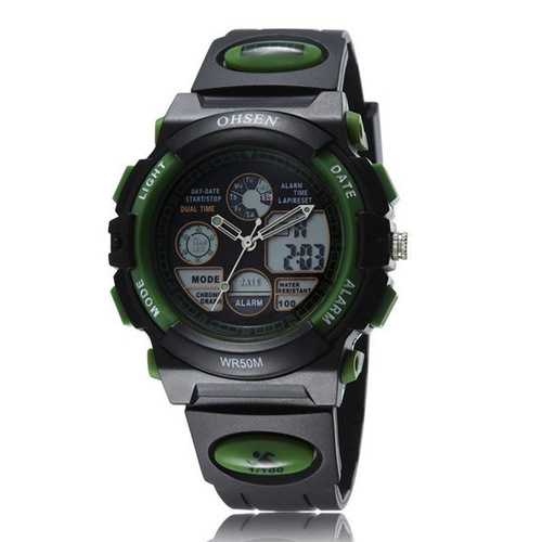 OHSEN AD1501 Mens Women LED Fashion Casual Sport Watch