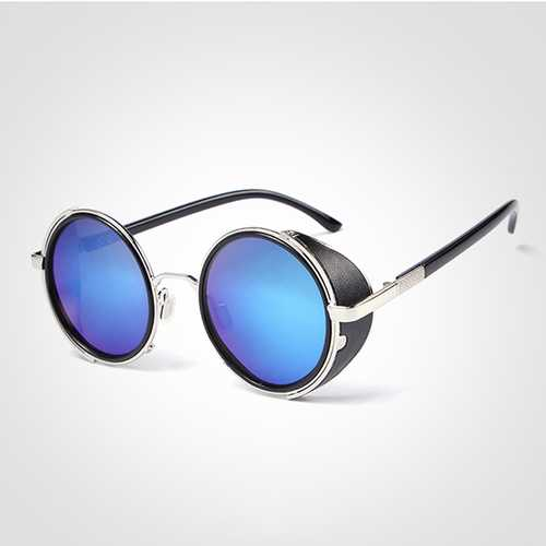 Men Women Vintage Steam Punk Round Uv Protection Sun Glassess Summer Sunscreen Eyeglasseess