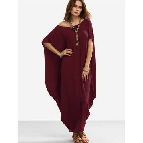 Sexy Women Off Shoulder Loose Casual Maxi Dress