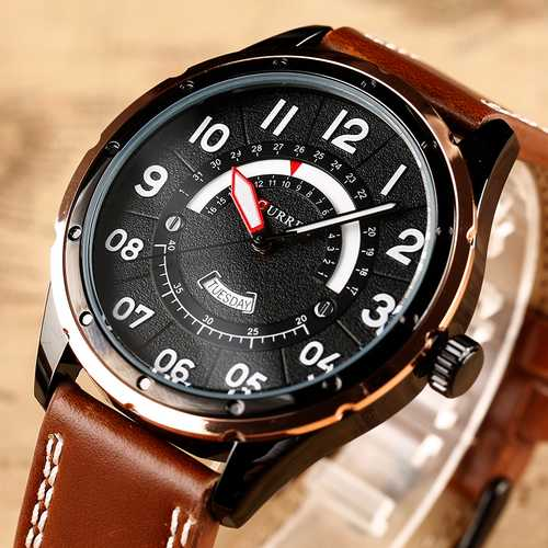 CURREN 8267 Casual Style Men Wrist Watch Calendar Quartz Movement Watch