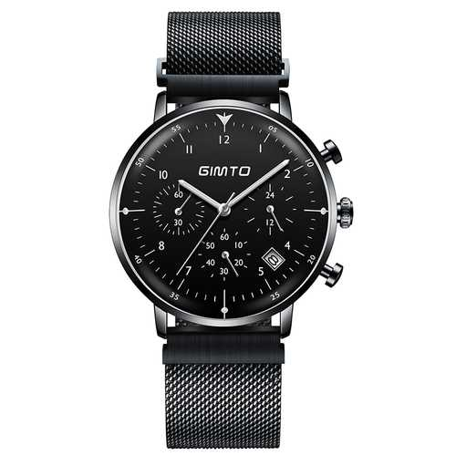 GIMTO GM245 Luminous Display Stainless Steel Quartz Watch