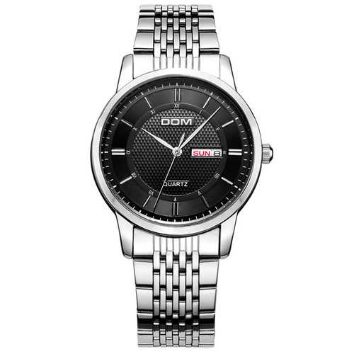 DOM M-11D Waterproof Business Style Men Wrist Watch