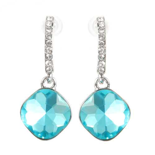 Classic Crystal Drop Earrings Elegant Dazzling Rhinestone