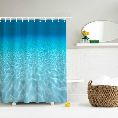 Water-Proof Polyester 3D Printing Bathroom Shower Curtain