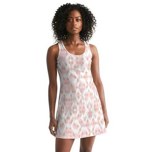 Pearly Pink Womens Racerback Dress