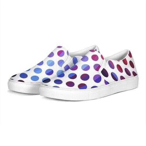 Polka Dot Style Slip-On Canvas Sneakers