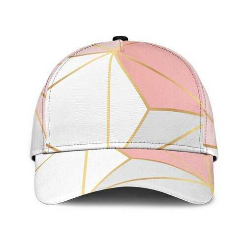 Pink and White Geometric Style Classic Cap