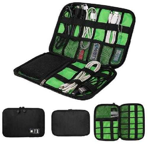 Portable Cable Storage Organizer Bag Waterproof Shockproof Earphone Digital USB Cable Sorting Travel Insert Bags