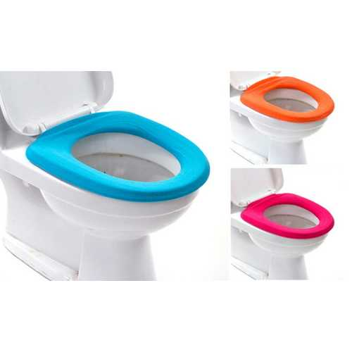1Pc Household Daily Products Bathroom Toilet Seat Cover O-Shaped Warm Pads Flush Random Color High Quality
