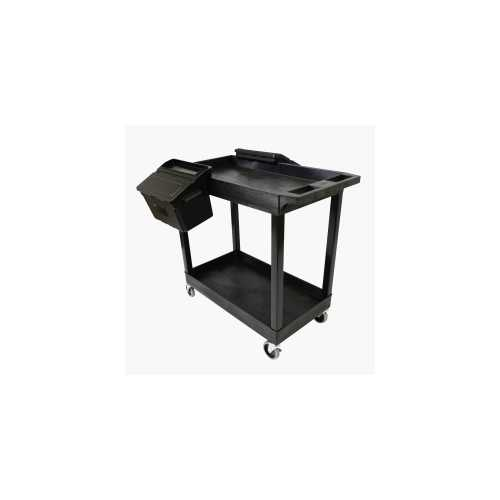 Luxor Two Shelf Cart with Outrigger Bins