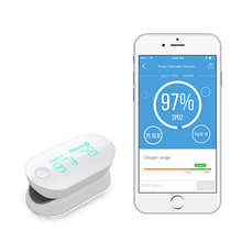 Cargar imagen en el visor de la galería, iHealth Air wireless pulse oximeter connected to iHealth Gluco-Smart mobile app