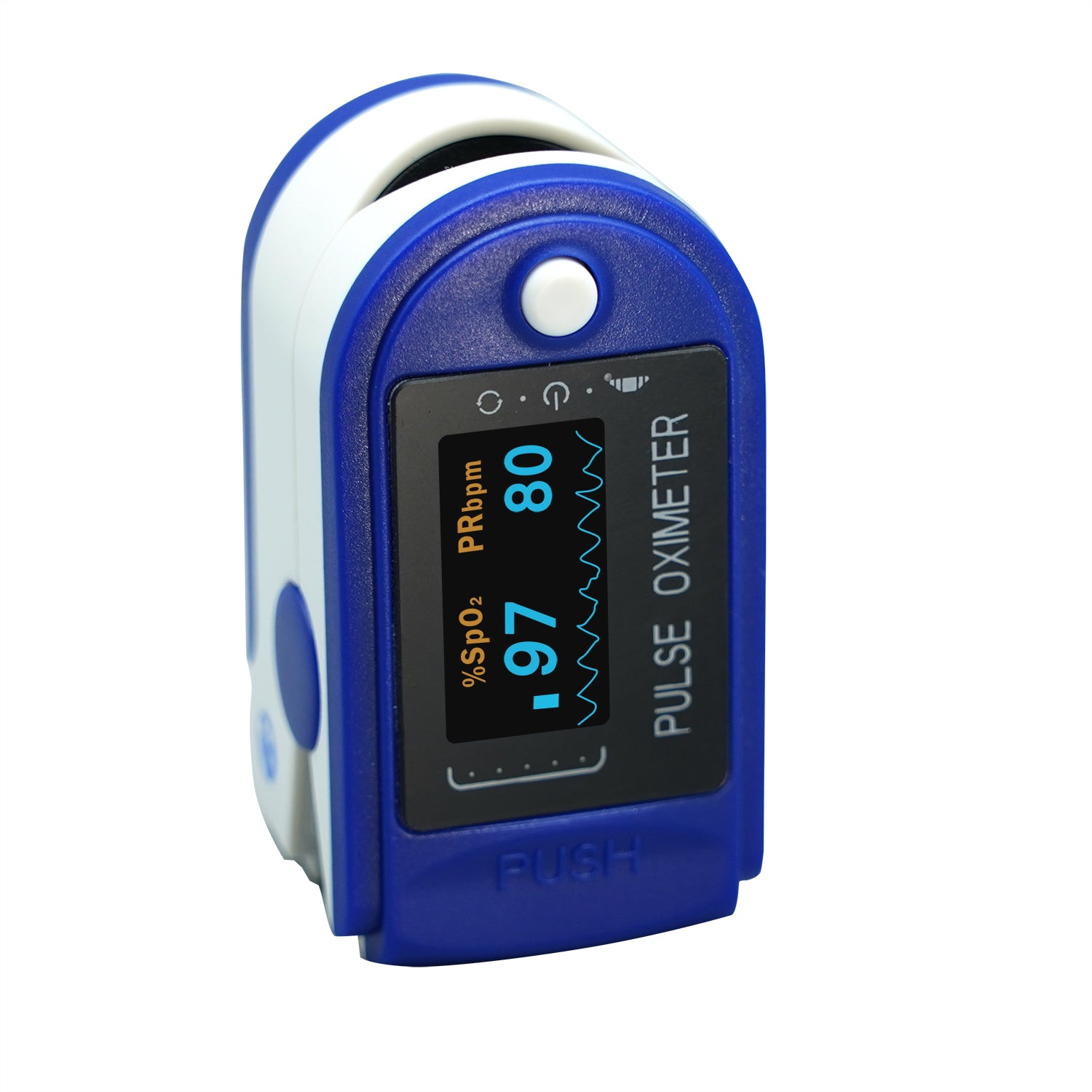 iHealth wired fingertip pulse oximeter front view