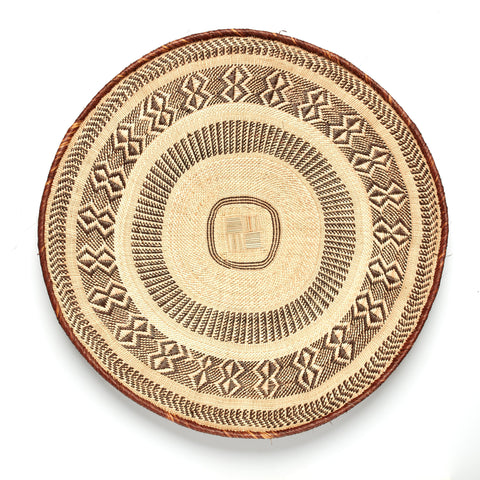 Blonde Patterned Binga/Tonga Basket XXL