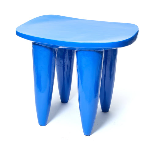 Blue Senufo Stool
