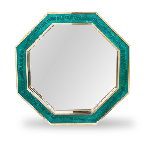 Ostrich Emerald Oct Mirror