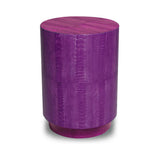 Ostrich Lilac Barrel Side Table