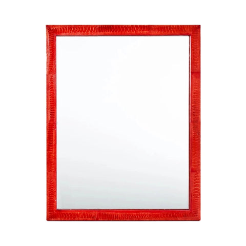 Lipstick Red Ostrich Mirror No Trim