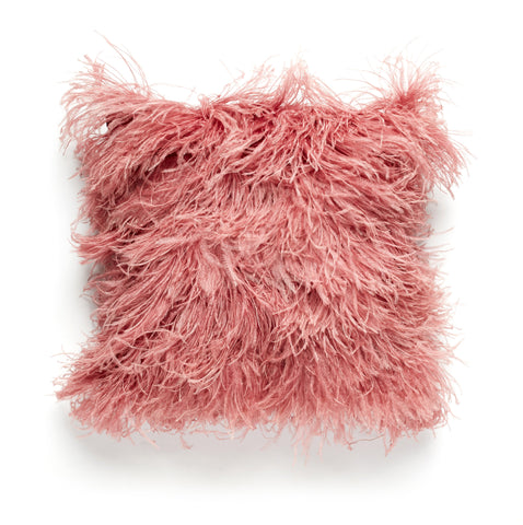 Rose Ostrich Feather Pillow