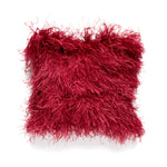 Wine Ostrich Feather Pillow