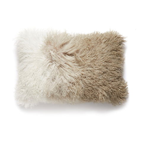 Ombre Desert - Pure Tibetan Lamb Fur Pillow