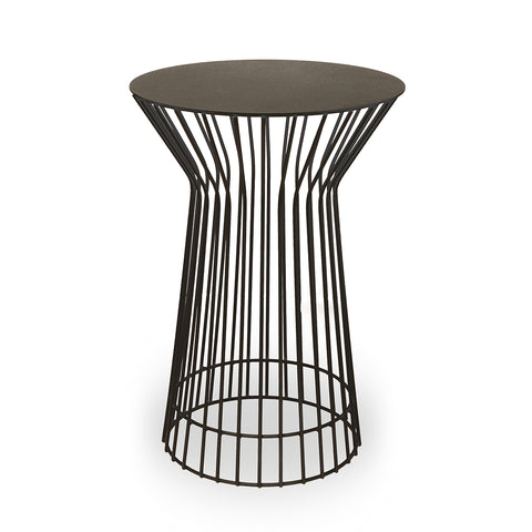 Black Wire Side Table - Tall