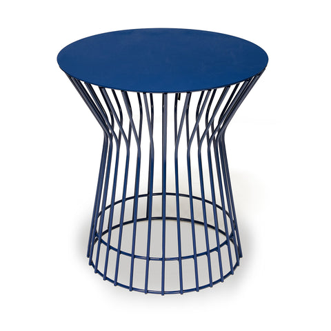 Blue Wire Side Table - Short