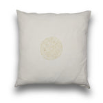 Cotton White on White Beaded Large Square Cushion