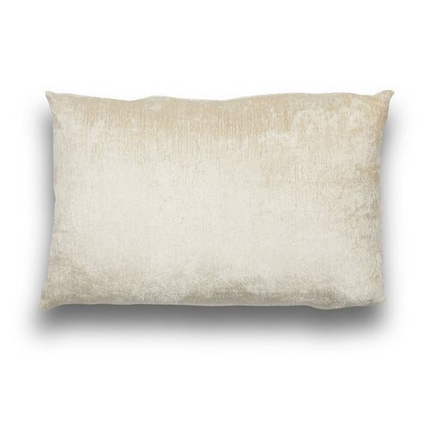 Silk Velvet IKAT Cream Lumbar Pillow