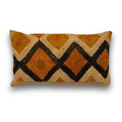 Kuba Natural Orange and Blacks Lumbar Cushion