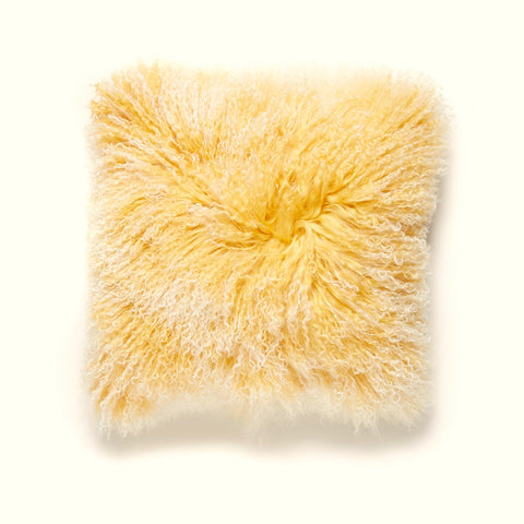 Curry - Pure Tibetan Fur Pillow