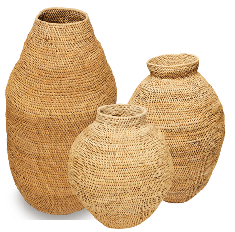 Buhera Natural Floor Basket Trio