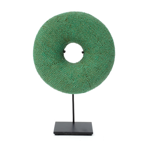 Green Beaded Donut