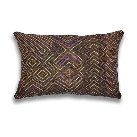 Kuba Intricate Jewel Lumbar Cushion
