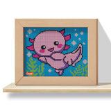 Pixel Art 4 Kawaii Design Axolotl