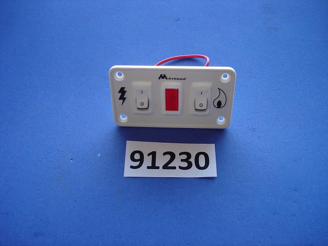 Atwood 91230 Switch Kit Dual Panel 12VDC White Water Heater Parts