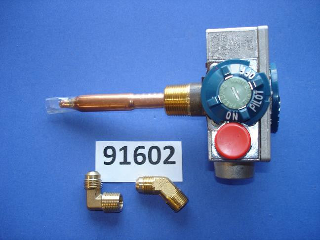 Atwood 91602 Robertshaw Thermostat with a Three Eight Inch NPT inlet and with a Three Eight NPT Outlet Water Heater Parts
