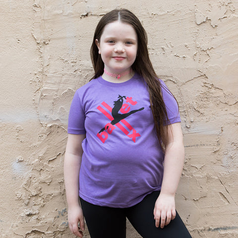 Youth Tee in Purple