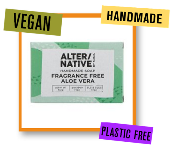 Alter/Native By Suma Aloe Vera Fragrance Free Soap