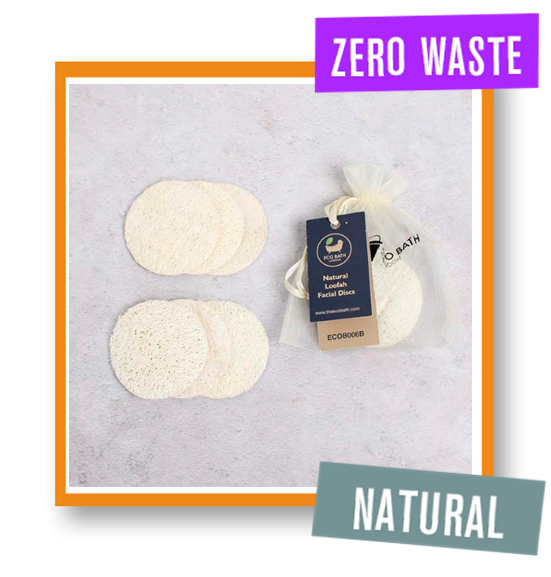 Eco Bath London Natural Loofah Facial Discs