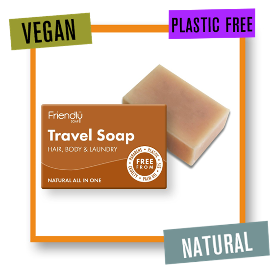 Friendly Soap 3 In 1 Travel Soap Hair & Body Bar