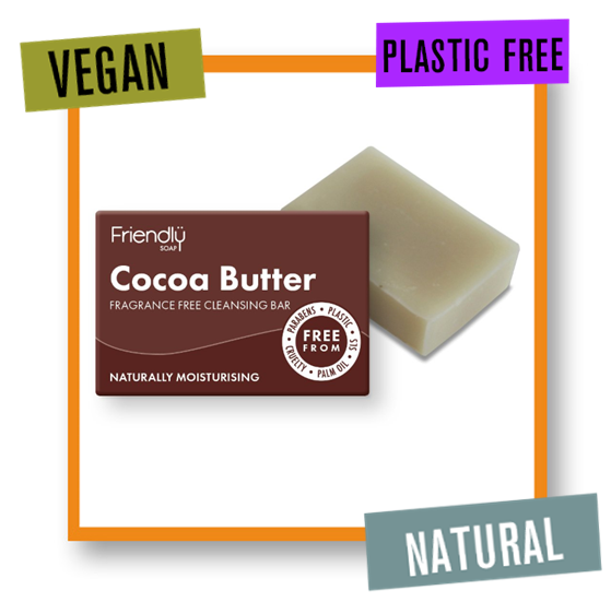 Friendly Soap Fragrance Free Cocoa Butter Facial Cleansing Soap