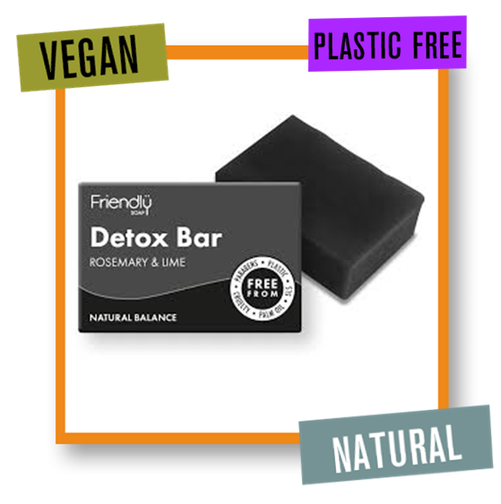 Friendly Soap Detox Bar with Activated Charcoal