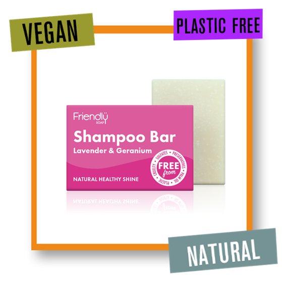 Friendly Soap Lavender & Geranium Healthy Shine Shampoo Bar