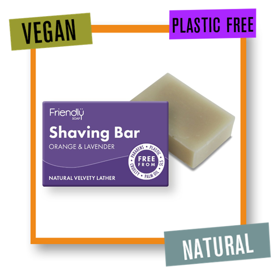 Friendly Soap Orange & Lavender Soothing Shaving Soap Bar