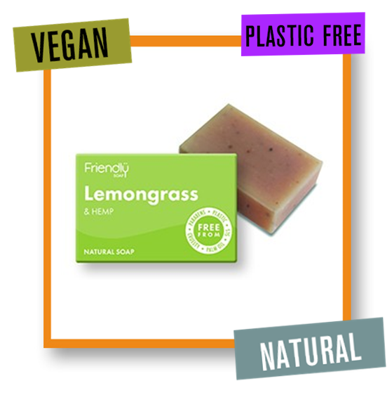 Friendly Soap Uplifting & Exfoliating Lemongrass Bath Soap Bar
