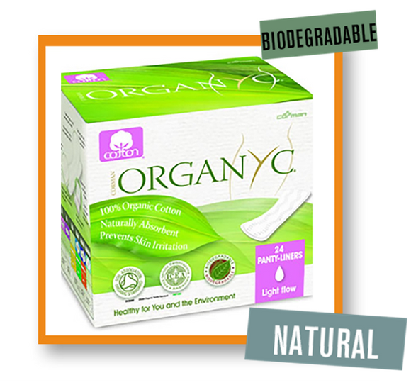 OrganYc Large Flat Panty Liners Light Flow