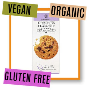 Against the Grain Organic Chocolate Chip and Hazelnut Cookies